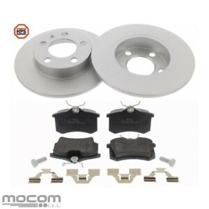 Brake Set Brake Discs Coated Carbon Brake Pads Rear For VW Golf