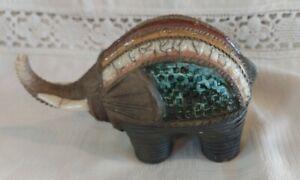 Porcupine Ceramics South Africa Raku Small Elephant