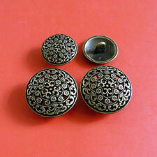 10 Designer Brass Metal Plate Suit 2 Size Sewing Buttons 16.5mm 21mm ST15