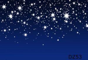 20x10FT Blue Sky Xmas Stars Vinyl Studio Backdrop Photography Photo Background