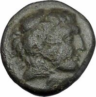 Alexander III the Great as Hercules 336BC Ancient Greek Coin Bow Club i47352