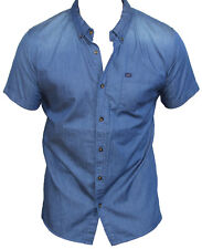 New Lee Mens Casual Shirt in Denim Stoned Colour Size M