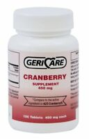 Geri-Care Cranberry Supplement, 100 Tablets 450 mg Each (Pack of 4)