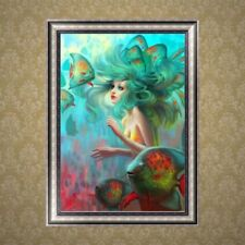 DIY 5D Mermaid Diamond Embroidery Painting Cross Crafts Stitch Home Wall Decor