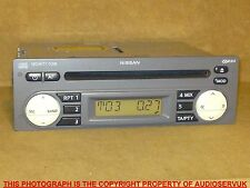 NISSAN MICRA CD PLAYER IN GREY WITH CODE & WARRANTY. FOR 2003 - 2007 (K12) CARS
