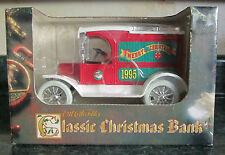 1995 Ertl Merry Christmas Bank 1913 Model T Van NIB RARE BLOWOUT SALE