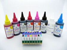Refillable Ink Cartridge Kit + 800ml Ink fits Epson Stylus Photo R1900 NON-OEM