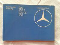 Bedienungsanleitung Mercedes-Benz 200, 230 E, 230 CE, 250