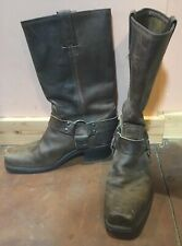 Classic FRYE 77300 Women Sz 9 Brown Leather Motorcycle Riding Harness Boots