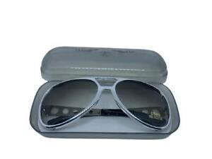 RARE! Elvis Presley TCB Sunglasses EPE Silver Aviator VTG with Case
