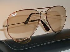 62mm VINTAGE B&L RAY BAN TORTUGA PHOTO BROWN CHANGEABLES AVIATOR SUNGLASSES *