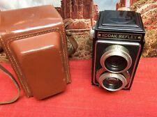 Vintage Kodak Twin Lens Reflex Camera w/ Leather Case - Exc Cosmetic Condition