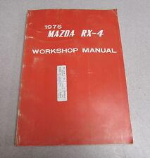 1975 Mazda RX-4 Service Repair Workshop Manual