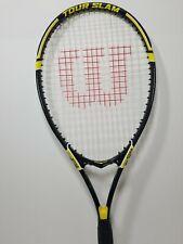 "Wilson Tour Slam Tennis Racket L3 4 3/8"" Grip Stop Shock Power ridge Nice Cond."