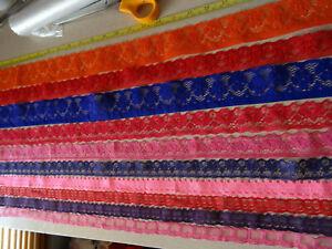 Job Lot Off-Cuts Non-Stretch Lace 10 x 1m lengths Lace Bundle colours