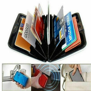 RFID Scan Protected Alloy Hard Case Security Wallet Bank Credit Card Holder