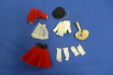 Vintage 1958 Betsy McCall Town and Country Outfit Red Skirt Bolero Jacket Hat