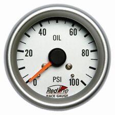 2 5/8 Mechanical Oil Pressure Gauge with Line Kit 258-10 Redline