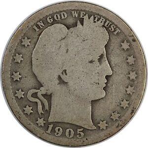 1905 United States Barber Head Quarter - G Good Condition
