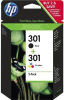 Original HP 301 Black & Colour Combo Ink Cartridge Pack for HP Deskjet 1050A