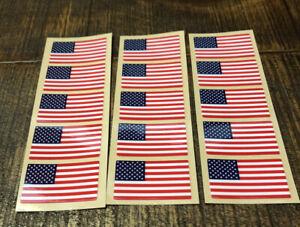 Lot Of 15 American Flag Full Size Football Helmet Decals