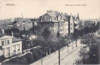 uralte AK, Bitterfeld Partie an der Linden-Straße alte Villen 1915