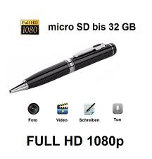 FULL HD 1080p Spion Kugelschreiber Mini Camera Kamera bis 32GB Foto Video Audio