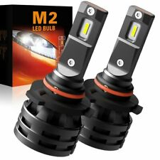 2X Super White LED 9012 HIR2 Headlight Bulb Combo 9000LM 90W High Low Beam K