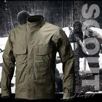 s.archon Men's Tactical Shirt Long Sleeve Outdoor Military Shirt Coat Jacket New