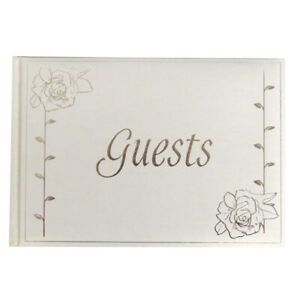 English Rose Pearlescent Wedding Event Reception Guest Book