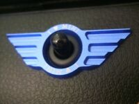 Blue Door Lock Badge Fit 07-13 MINI Cooper S JCW GP R50 R53 R56 R58 R59 Clubman