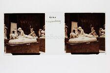 Paris Musée du Luxembourg Sculpture Fremiet Plaque de verre stéréo