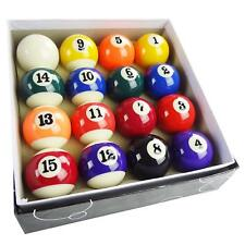"2"" Pool Table Billiard Ball Set, Complete 16 Ball Set, Smaller Pool Balls Set US"