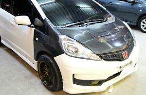 for honda fit jazz ge 2011-14 real carbon hood bonnet
