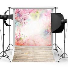 3x5ft Wall Floor Wooden Backdrop Flower Studio Photography Vinyl Background Prop