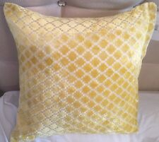 HOME DECOR MOROCCAN PATTERN MODERN CHENILLE YELLOW CUSHION COVERS 43 X 43 CMS