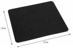 5mm PLAIN BLACK FABRIC MOUSE PAD MAT 25cm X 22cm FOAM PC DESKTOP COMPUTER LAPTOP
