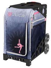 Zuca Bag Ice Dreamz Lux Insert & Black Frame w/Non-Flashing Wheels -Free Cushion
