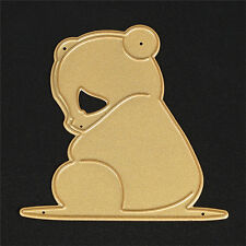 Gold Metal Bear Cutting Dies Stencil DIY Scrapbooking Diary Template Decor