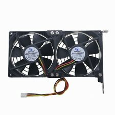 Dual 9cm 90mm x 25mm 12V Computer PC CPU Cooling Cooler Fan 4Pin For Video Card
