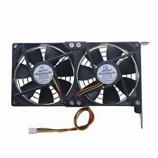 Dual 9cm 90mm 90x90x25mm 12V PC CPU Case Video Card Cooling Cooler Fan 4Pin