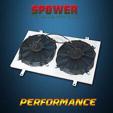 Aluminum Radiator Fan Shroud With 120W  Fan For NISSAN SKYLINE R33 R34