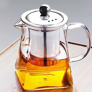 Lid for Blooming Loose Leaf Tea Glass Teapot with Stainless Steel Infuser