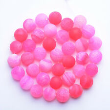 """10MM Natural Weathered Agate Pink Round Veins Loose Stone Craft Beads 15"""""""