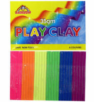 6 Modelling Clay Packs - Play Loot/Party Bag Fillers Wedding/Kids