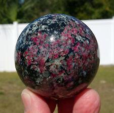 Ruby Eudialyte Crystal Sphere Ball fr Russia aka Khibinite Lamprophyllite Stone