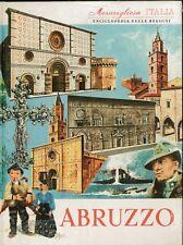 MERAVIGLIOSA ITALIA  ABRUZZO ENCICLOPEDIA DELLE REGIONI LIBRI STOCK VINTAGE