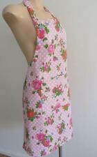 BLUSH PINK ROSES Polka Dots Country Farm House 100% Cotton Women's Apron