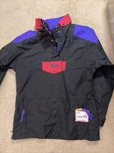 Vintage 90's Columbia Ski pull over Neon Shell Anorak Jacket Men's Size Medium