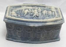 Vintage Incolay Stone Cameo Trinket Jewelry Box Jubilee Scene Handcrafted USA